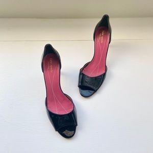 Kate Spade Sage Patent Black Heels Size 8.5